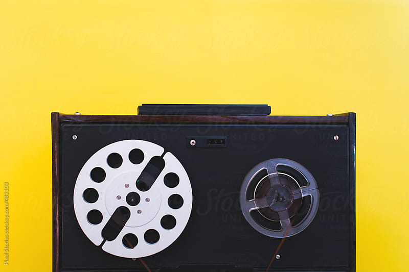 Vintage reel-to-reel tape recorder by Pixel Stories for Stocksy United