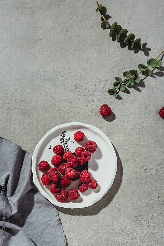 Raspberries by Tatjana Zlatkovic for Stocksy United