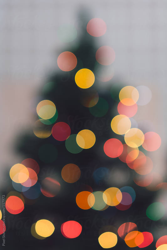 Blurred Christmas tree by Pixel Stories for Stocksy United