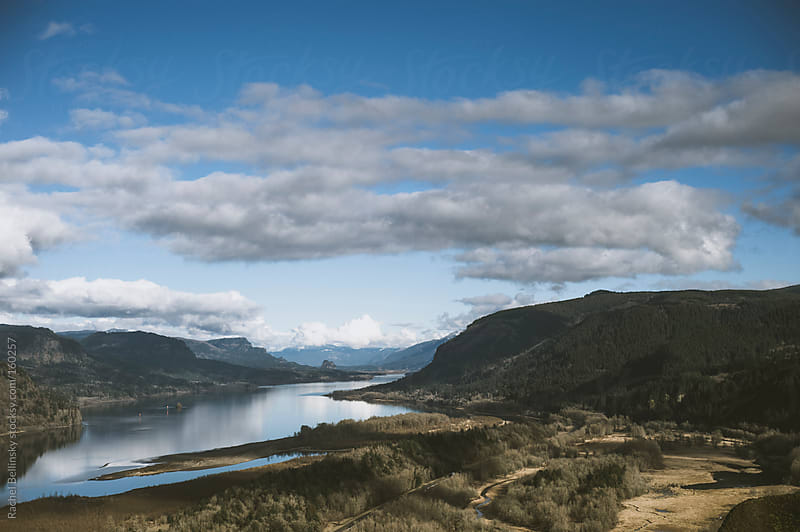 Majestic view from the Vista House in Corbett, Oregon by Rachel Bellinsky for Stocksy United