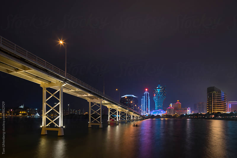 Macau, SAR China - City Skyline at Night by Tom Uhlenberg for Stocksy United