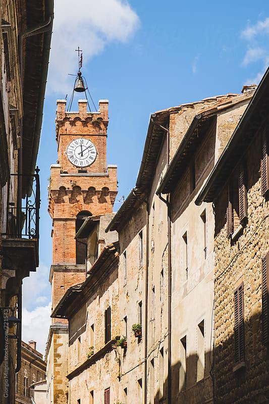 Palazzo dei Priori Tower in Pienza, Val d'Orcia by Giorgio Magini for Stocksy United
