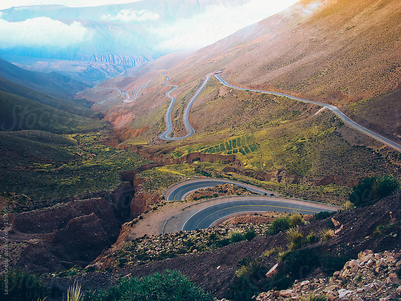 Landscape road scene, North of Argentina, Jujuy by Leandro Crespi for Stocksy United