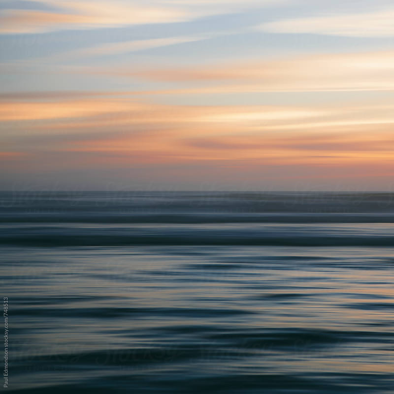 Seascape abstract at dusk by Paul Edmondson for Stocksy United