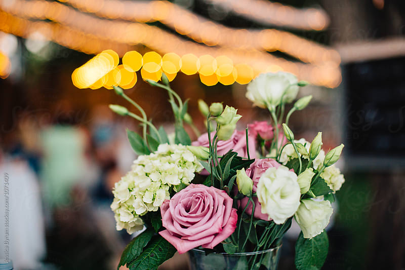 Flower Bouquet & Lights by Jessica Byrum for Stocksy United