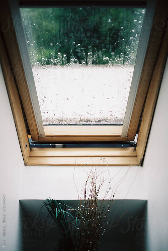 Rainy window, Scotland by Ryan Tuttle for Stocksy United