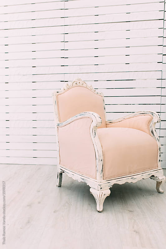 victorian pale armchair by Thais Ramos Varela for Stocksy United
