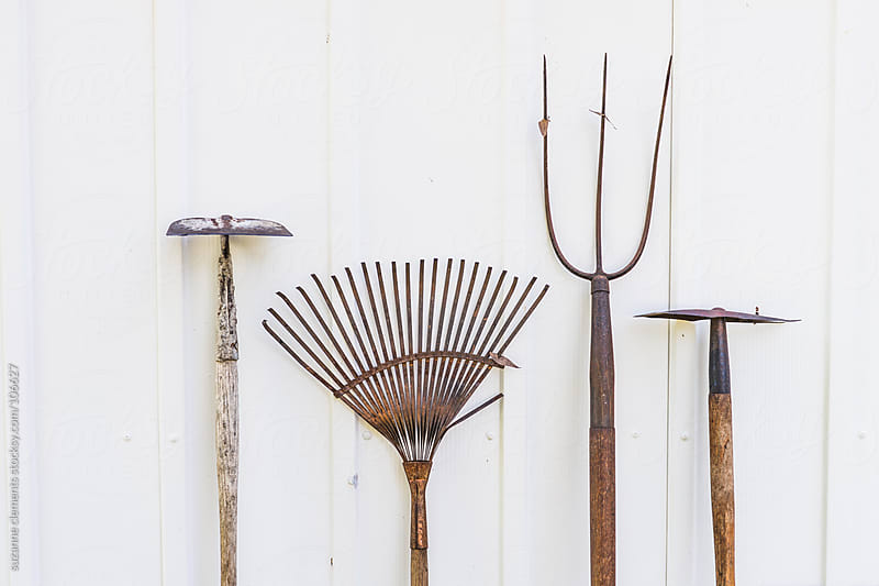 Collection of Old Lawn and Garden Tools by suzanne clements for Stocksy United