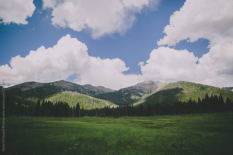 Mountains and Clouds by Dylan M Howell Photography for Stocksy United