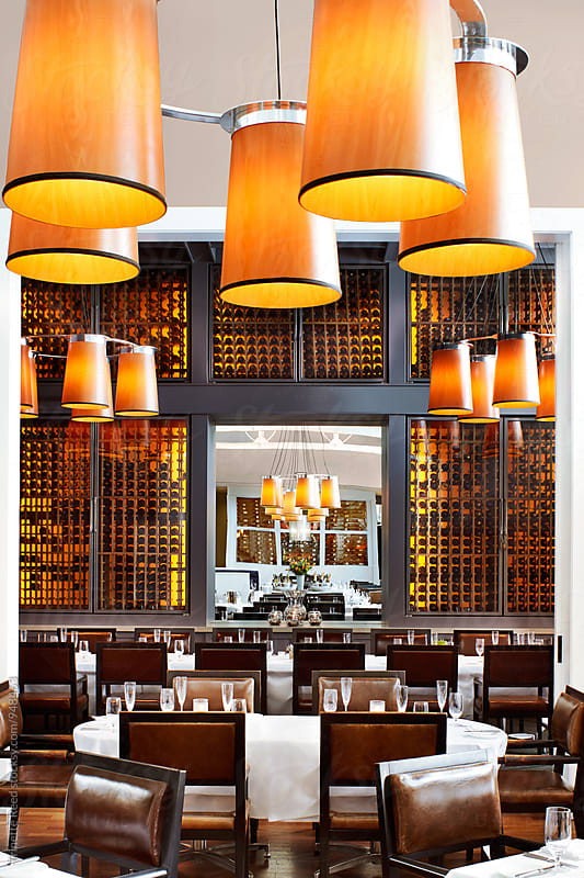 Upscale Restaurant at a Luxury Resort by Trinette Reed for Stocksy United