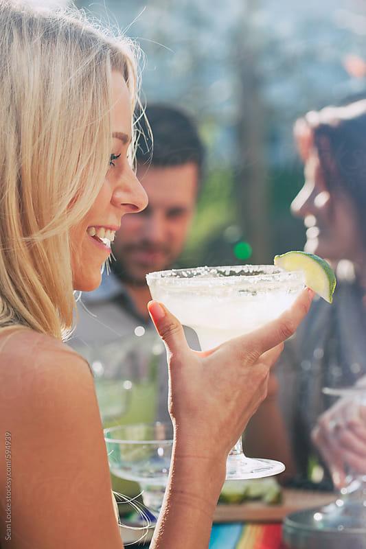 stock photo: drinking margarita