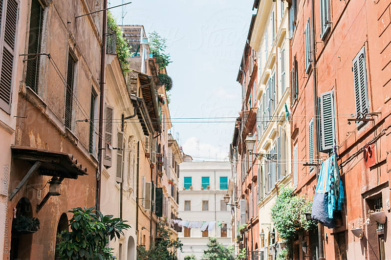 Classic Old European Alleyway by Briana Morrison for Stocksy United