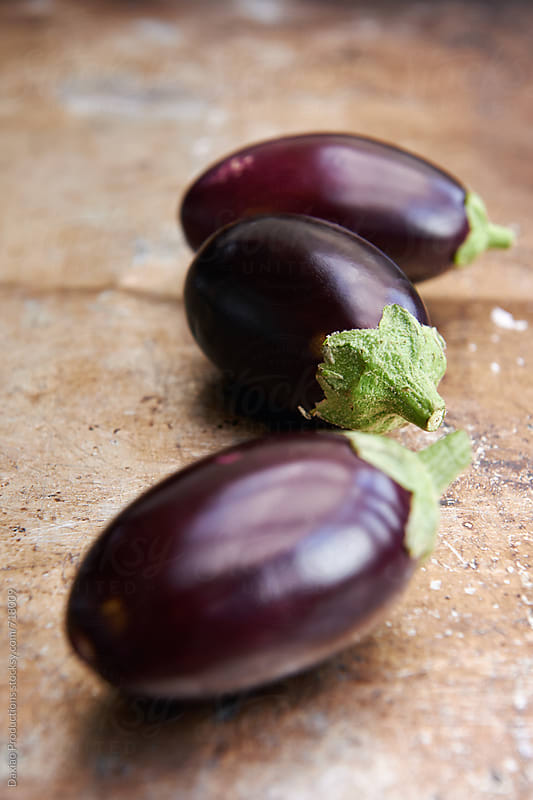 Mini eggplants by Daxiao Productions for Stocksy United