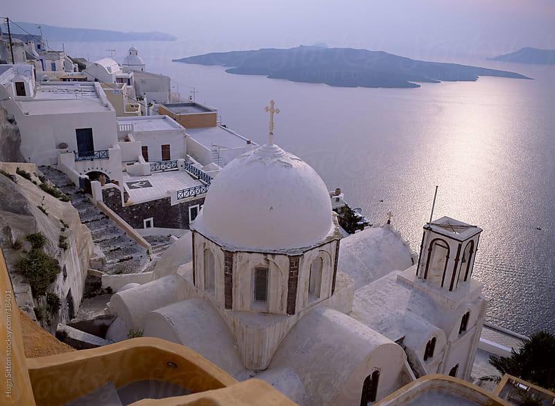 Beautiful churches of Santorini. Greece. by Hugh Sitton for Stocksy United