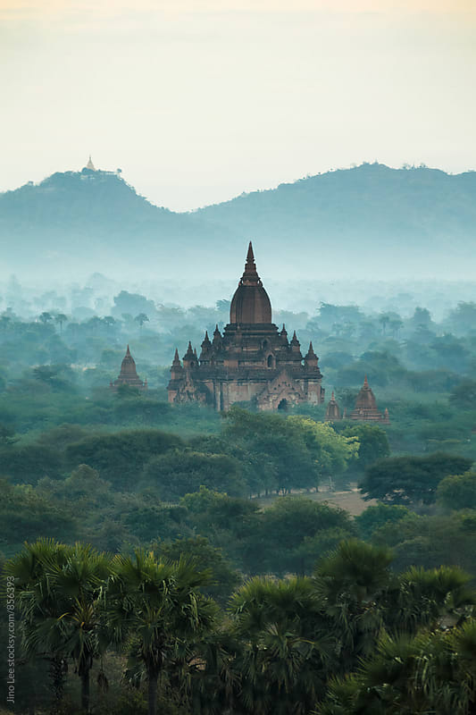 Bagan stupa in the morning by Jino Lee for Stocksy United