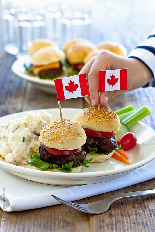 Canada Day Burgers by Jill Chen for Stocksy United