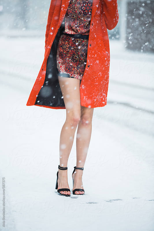 Bare Legs In The Snow By Ania Boniecka Stocksy United