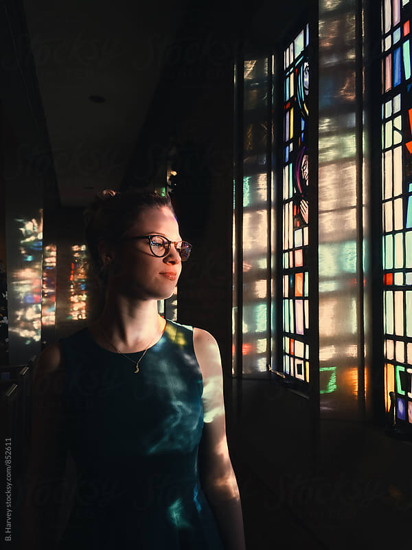 A Girl in a Church by B. Harvey for Stocksy United