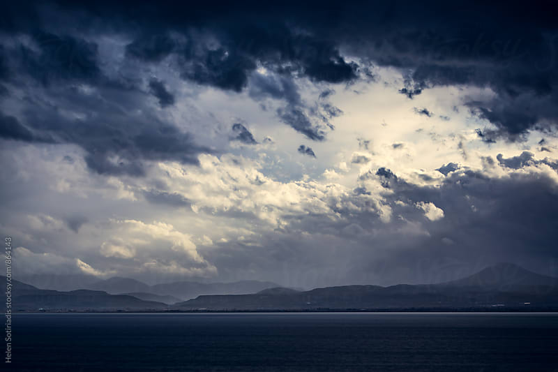 Turbulent Sky over the Sea by Helen Sotiriadis for Stocksy United