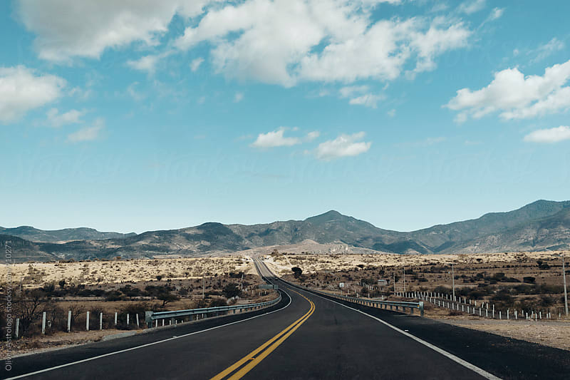 A road in Mexico by Oliver Astrologo for Stocksy United
