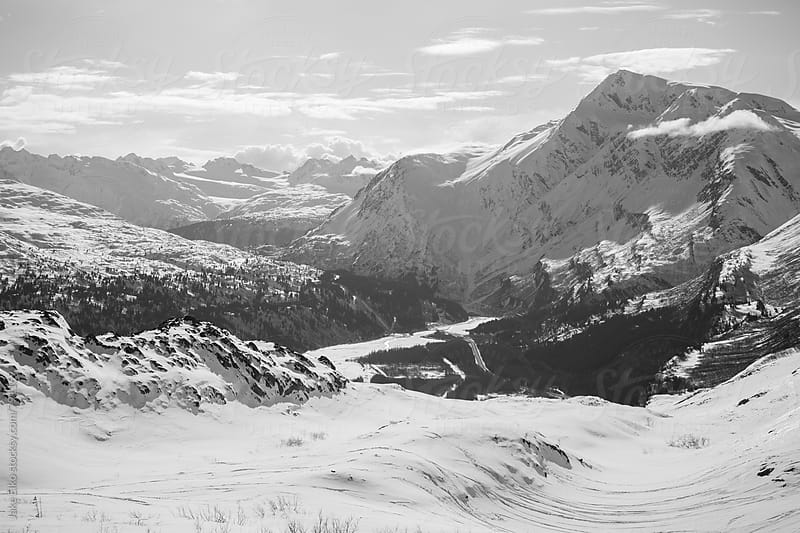 Thompson Pass b and w 2 by Jake Elko for Stocksy United