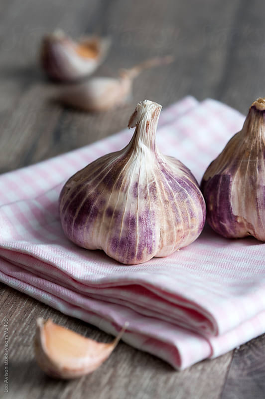 purple garlic by Lee Avison for Stocksy United
