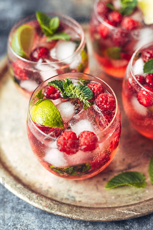 Raspberry mojito by Pixel Stories for Stocksy United