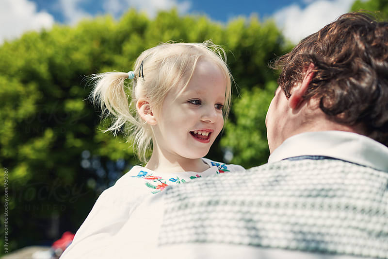 Father and daughter together by sally anscombe for Stocksy United