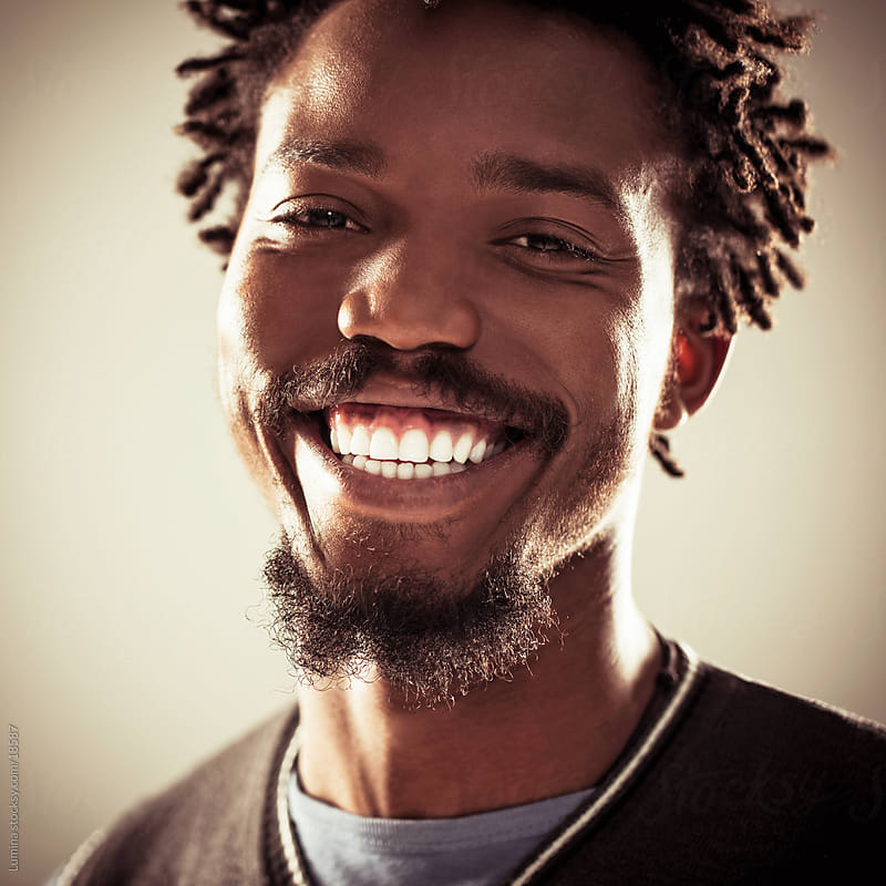 African-American Man Smiling by Lumina for Stocksy United