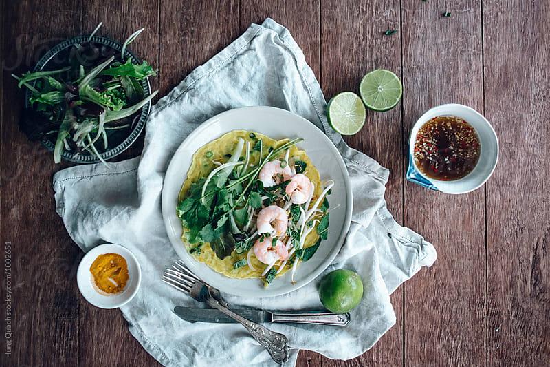 Vietnamese Prawn Pancakes by Hung Quach for Stocksy United