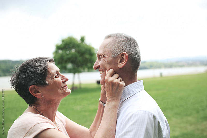 Happy elderly couple portrait by Jovana Rikalo for Stocksy United
