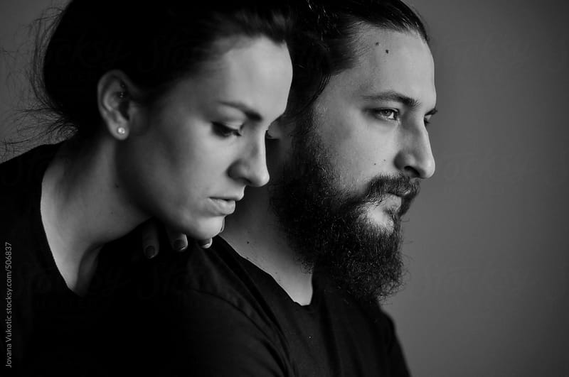 portrait of a young couple by Jovana Vukotic for Stocksy United