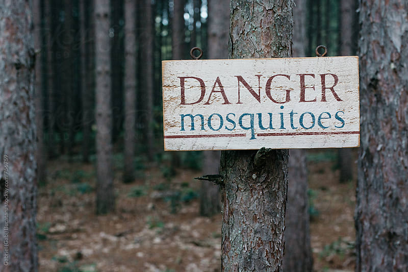 Mosquitoes danger sign by Gabriel (Gabi) Bucataru for Stocksy United