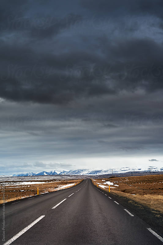 Empty icelandic highway road by Daxiao Productions for Stocksy United