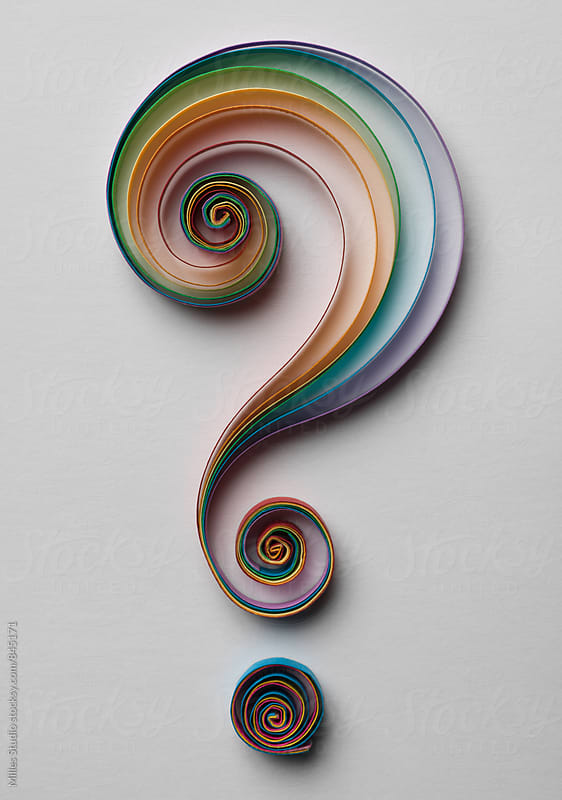 Quilling Question Mark by Milles Studio for Stocksy United