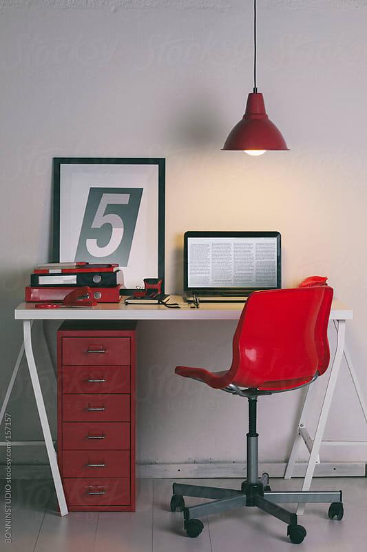 Cute home office desk.  by BONNINSTUDIO for Stocksy United