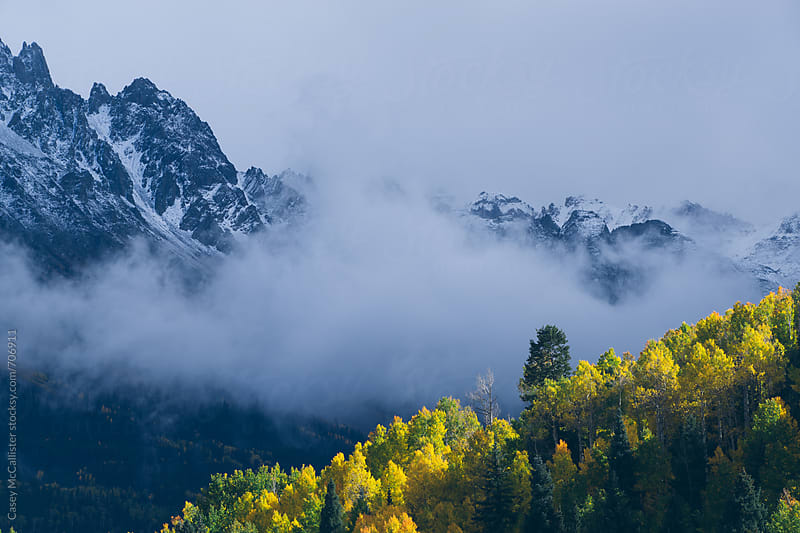 Colorado Fall Fog by Casey McCallister for Stocksy United