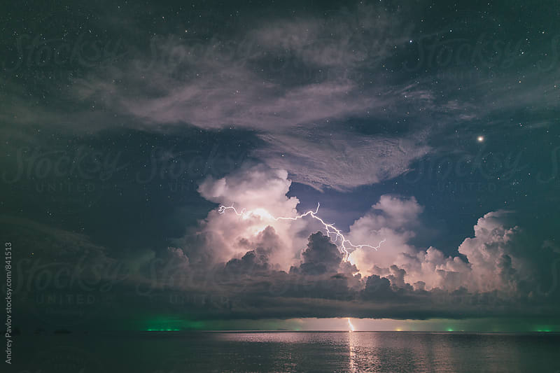 Storm at night by Andrey Pavlov for Stocksy United