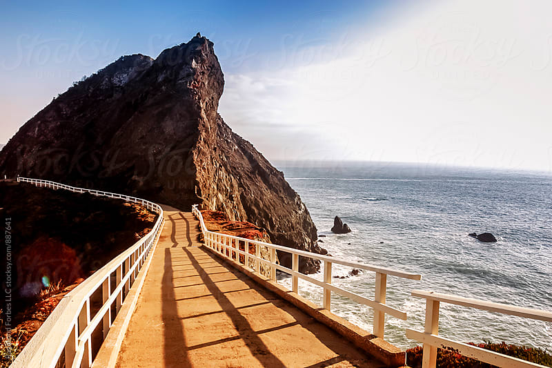 Point Bonita at Marin Headlands  San Francisco, California by Raymond Forbes LLC for Stocksy United