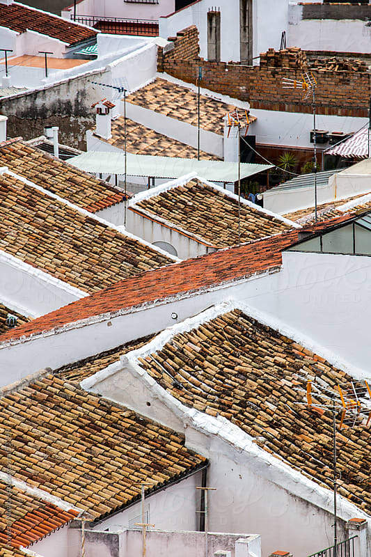Terracotta Rooftops of Andalucia by Rowena Naylor for Stocksy United