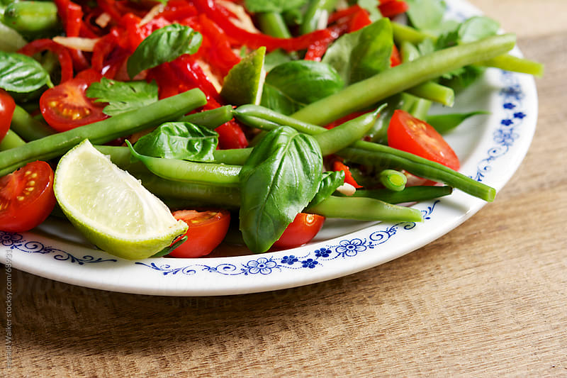 Thai Bean and Tomato Salad by Harald Walker for Stocksy United