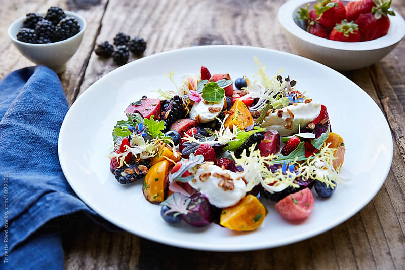 Beets and Berries Salad by Trinette Reed for Stocksy United