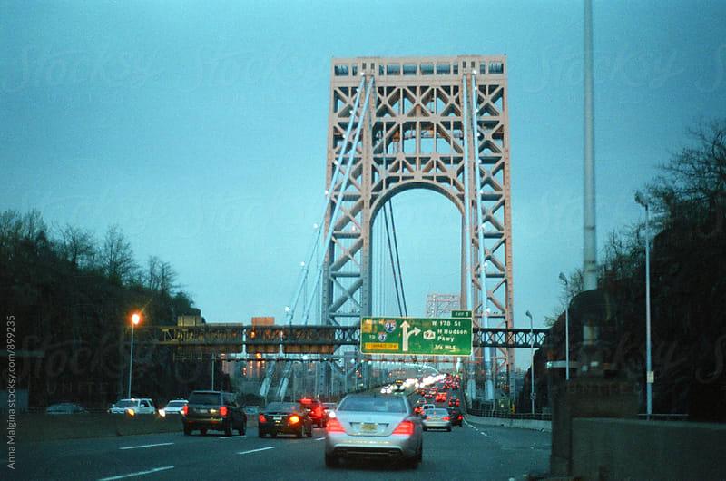 A film photo of New York bridge by Anna Malgina for Stocksy United