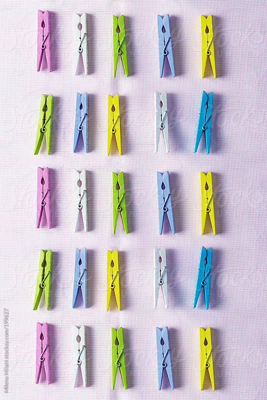 Clothes pegs by Milena Milani for Stocksy United