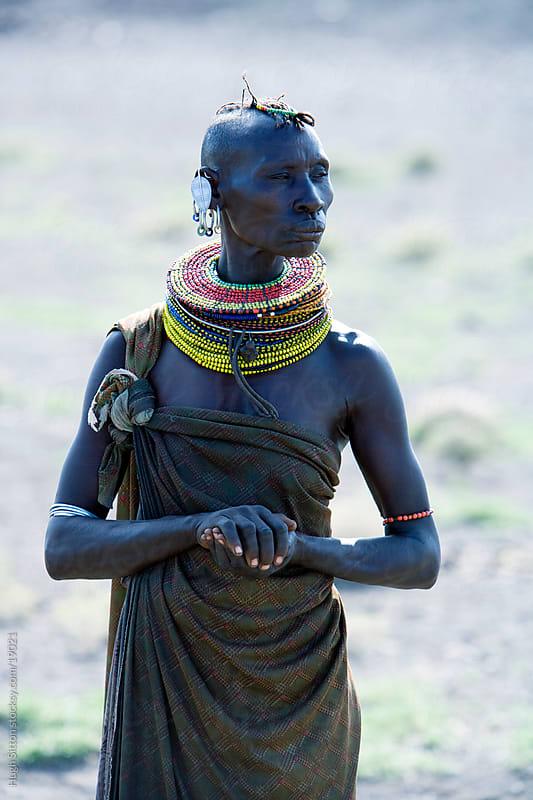 Portrait of Turkana tribeswoman. Lake Turkana. Kenya. by Hugh Sitton for Stocksy United