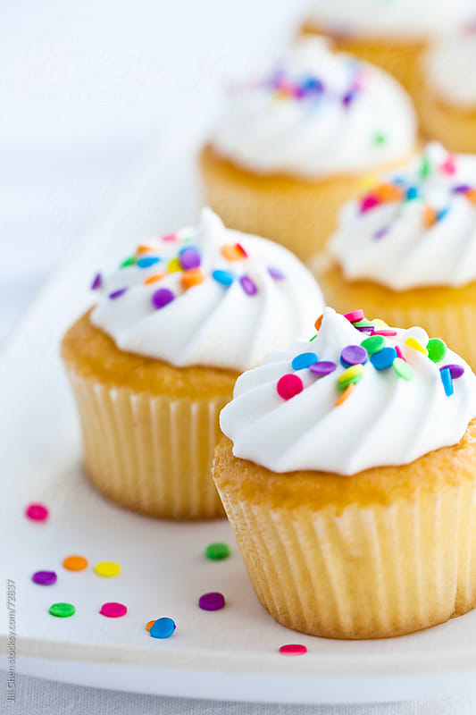 Confetti Cupcakes by Jill Chen for Stocksy United