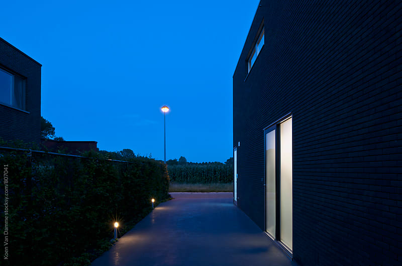 Blue hour house by Koen Van Damme for Stocksy United