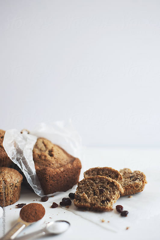 zucchini muffins and bread by Melanie DeFazio for Stocksy United