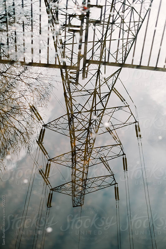 Pylon reflection by Sam Burton for Stocksy United