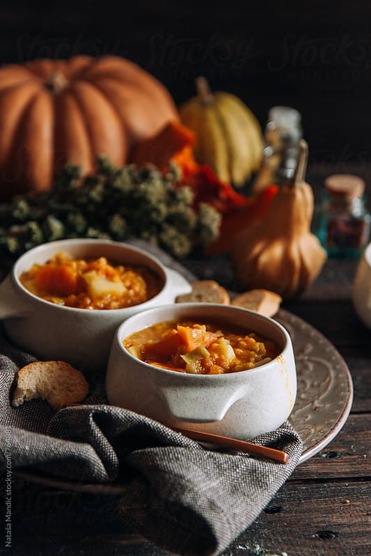 Homemade soup by Nataša Mandić for Stocksy United